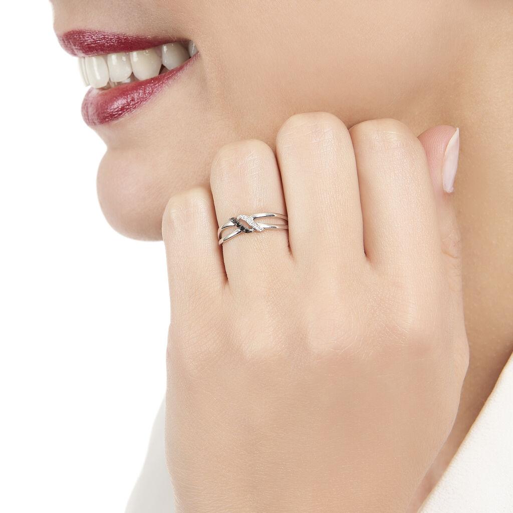 Bague Aline Or Blanc Diamant - Bagues avec pierre Femme | Histoire d'Or