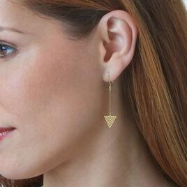 Boucles D'oreilles Pendantes Katie Or Jaune - Boucles d'oreilles pendantes Femme   Histoire d'Or