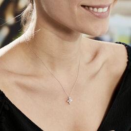 Collier Elsmeralda Or Blanc Oxyde De Zirconium - Bijoux Femme | Histoire d'Or