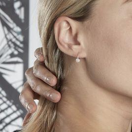 Boucles D'oreilles Pendantes Ursilla Or Blanc Diamants - Boucles d'oreilles pendantes Femme | Histoire d'Or