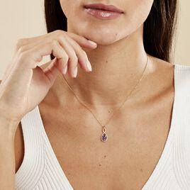 Collier Passion Or Jaune Amethyste Et Oxyde De Zirconium - Bijoux Femme | Histoire d'Or