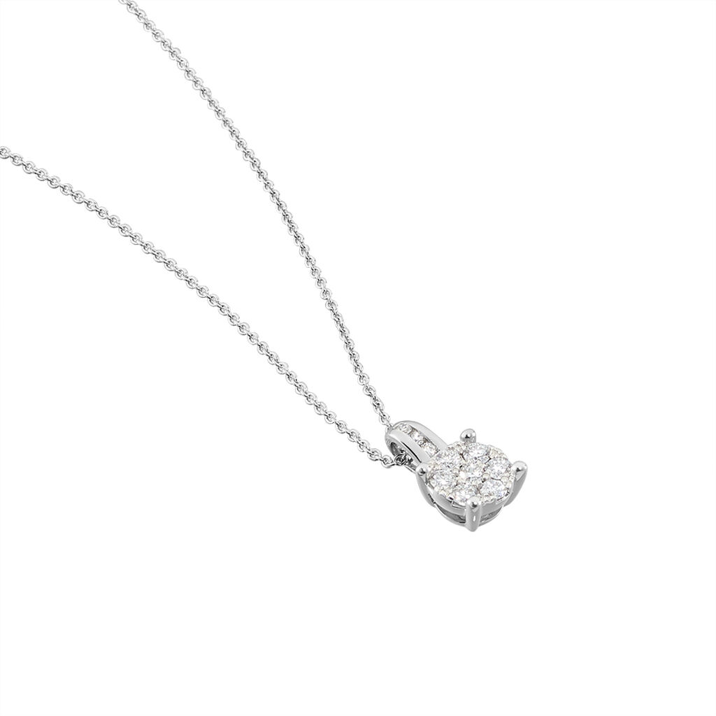 Collier Charlene Or Blanc Diamant Synthetique - Bijoux Femme | Histoire d'Or