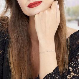 Bracelet Danael Argent Blanc - Bracelets fantaisie Femme | Histoire d'Or