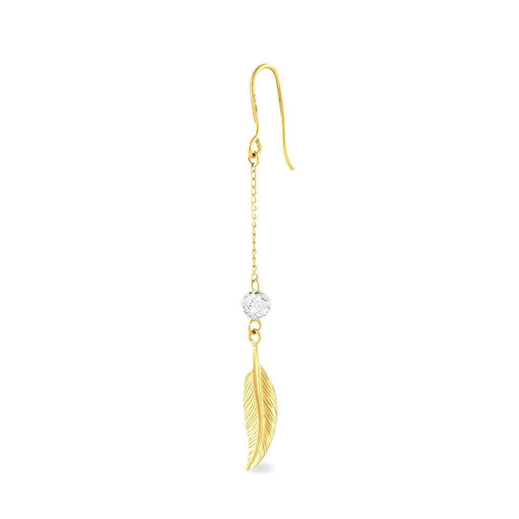 Boucles D'oreilles Puces Elais Etoile Or Jaune Oxyde De Zirconium - Boucles d'Oreilles Etoile Femme | Histoire d'Or