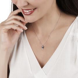 Collier Maura Or Blanc Saphir Diamant - Bijoux Femme   Histoire d'Or