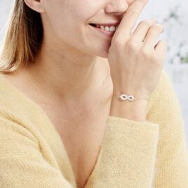 Bracelet Mariquita Or Jaune Oxyde De Zirconium - Bracelets Infini Femme   Histoire d'Or