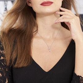 Collier Yedaz Argent Blanc Oxyde De Zirconium - Colliers fantaisie Femme   Histoire d'Or