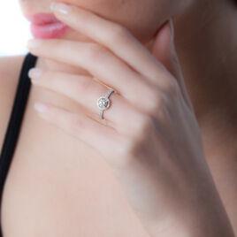 Bague Stelila Or Blanc Oxyde De Zirconium - Bagues solitaires Femme | Histoire d'Or