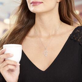Collier Navid Argent Blanc Oxyde De Zirconium - Colliers fantaisie Femme | Histoire d'Or