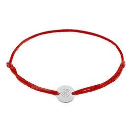 Bracelet Or Blanc Disque Coeur Diamant - Bracelets Coeur Femme | Histoire d'Or