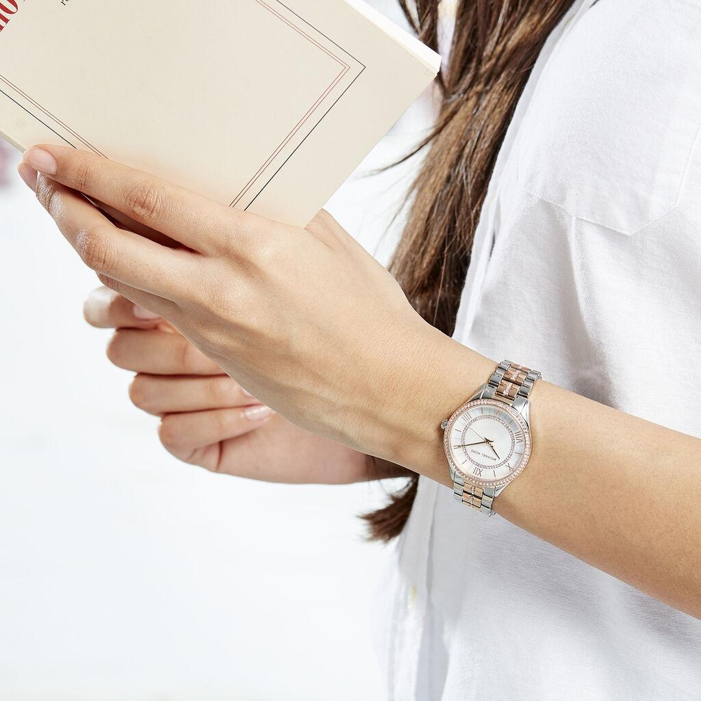 Montre Michael Kors Lauryn Blanc - Montres Femme   Histoire d'Or