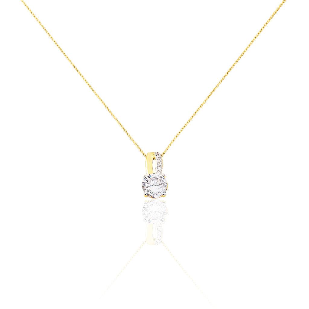 Collier Ofelie Or Jaune Oxyde De Zirconium - Bijoux Femme   Histoire d'Or