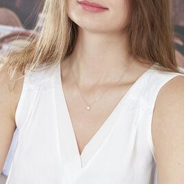 Collier Kadidjatou Or Rose Oxyde De Zirconium - Colliers Coeur Femme | Histoire d'Or