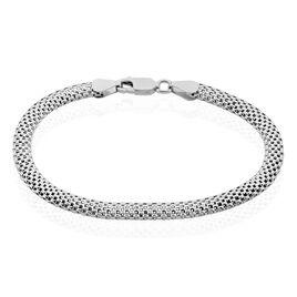 Bracelet Christine Maille Serpent Argent Blanc Oxyde De Zirconium - Bracelets chaîne Femme | Histoire d'Or