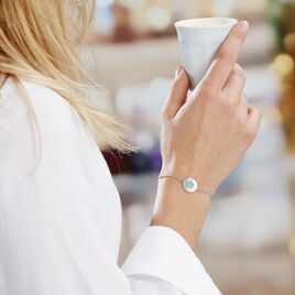 Bracelet Argent Rhodie Adonia Ronde Strie - Bracelets fantaisie Femme | Histoire d'Or