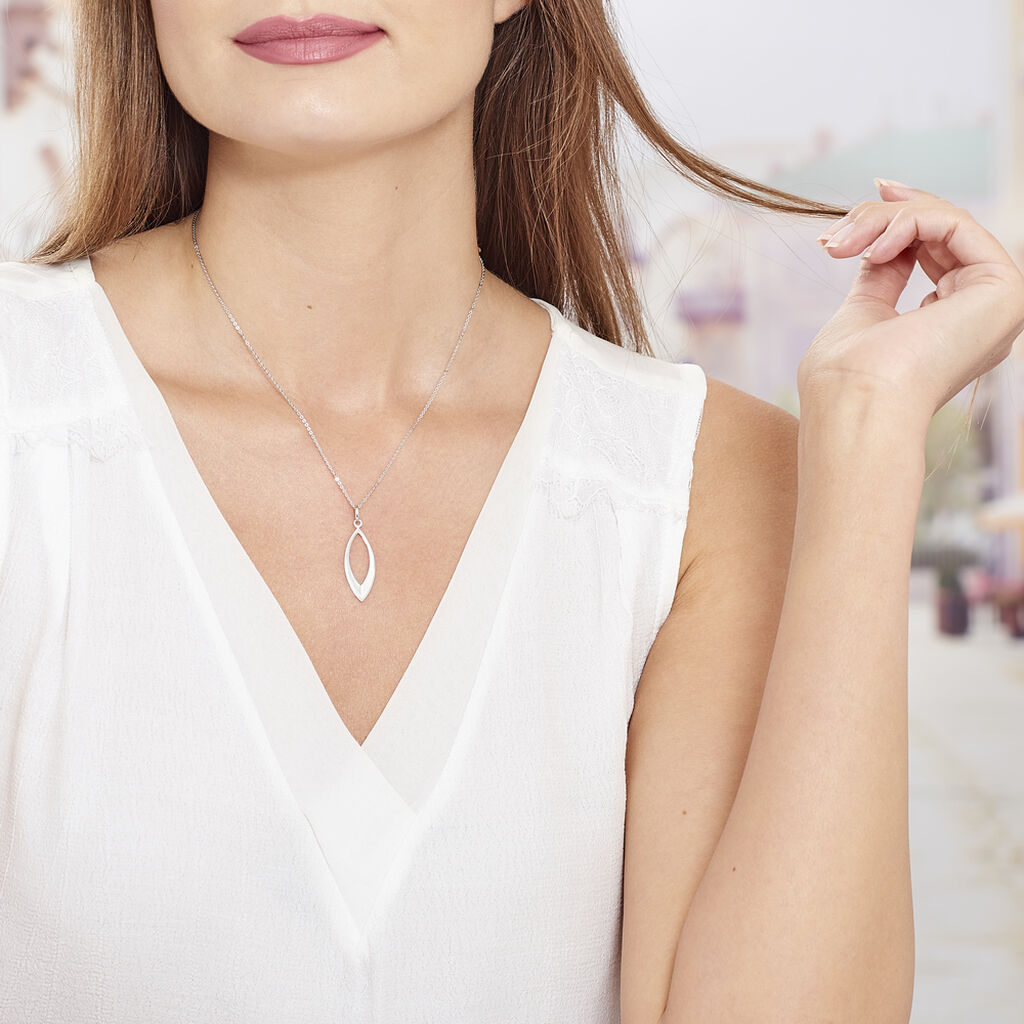 Collier Andrienne Argent Blanc - Colliers Plume Femme | Histoire d'Or