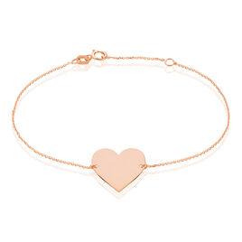Bracelet Nina Or Rose - Bracelets Coeur Femme | Histoire d'Or