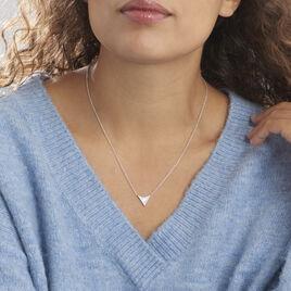 Collier Moric Argent Blanc Oxyde De Zirconium Nacre - Colliers fantaisie Femme   Histoire d'Or