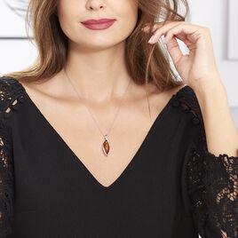 Collier Vyara Argent Blanc Ambre - Bijoux Femme | Histoire d'Or