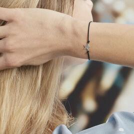 Bracelet Nostra Argent Blanc Oxyde De Zirconium - Bijoux Etoile Femme   Histoire d'Or