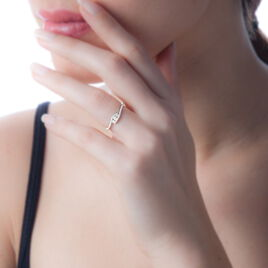 Bague Eternite Or Blanc Diamant - Bagues avec pierre Femme | Histoire d'Or