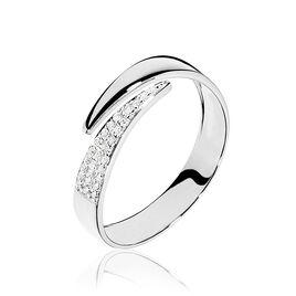 Bague Lyuba Or Blanc Diamant - Bagues avec pierre Femme | Histoire d'Or
