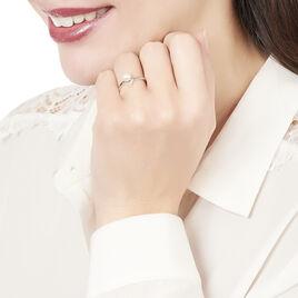 Bague Or Blanc Perle De Culture Et Diamant - Bagues avec pierre Femme | Histoire d'Or