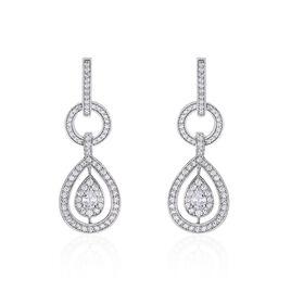 Boucles D'oreilles Pendantes Edward Argent Blanc Oxyde De Zirconium - Boucles d'oreilles pendantes Femme | Histoire d'Or