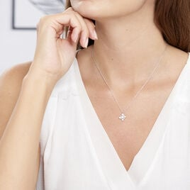 Collier Flocon Argent Blanc Oxyde De Zirconium - Colliers fantaisie Femme | Histoire d'Or