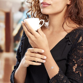Bracelet Argent Rhodie Audrey-rose Pastille Arbre De Vie - Bracelets Arbre de vie Femme | Histoire d'Or