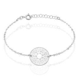 Bracelet Lauretta Argent Blanc - Bracelets fantaisie Femme | Histoire d'Or