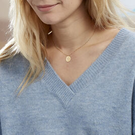 Collier Or Jaune Ange Pastille Etoile - Colliers Etoile Femme | Histoire d'Or