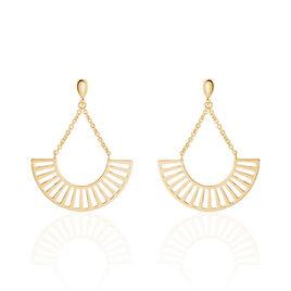Boucles D'oreilles Pendantes Cristina Plaque Or Jaune - Boucles d'oreilles pendantes Femme   Histoire d'Or