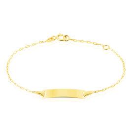 Bracelet Identité Gaspardine Maille Forcat Or Jaune - Bracelets Communion Enfant   Histoire d'Or