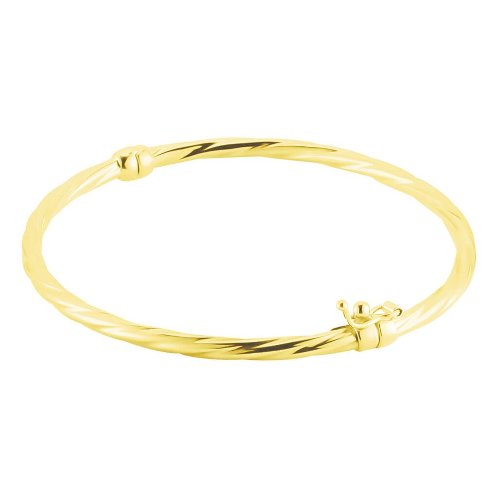 Bracelet Jonc Anaisaae Torsade Or Jaune - Bracelets joncs Femme   Histoire d'Or