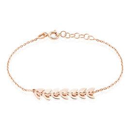 Bracelet Auxanne Argent Rose - Bracelets Plume Femme | Histoire d'Or