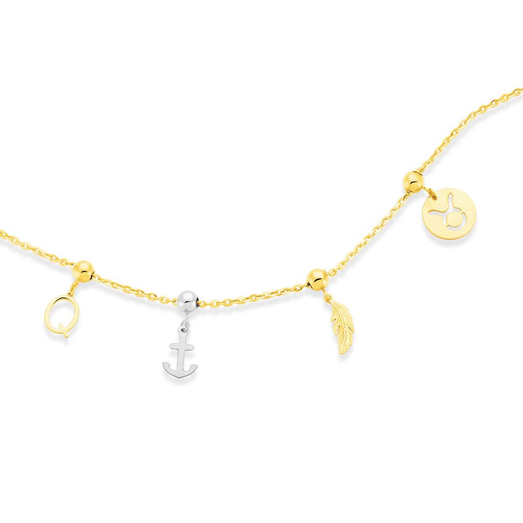 Charms Loetizia Or Blanc - Bijoux Ancre Femme | Histoire d'Or