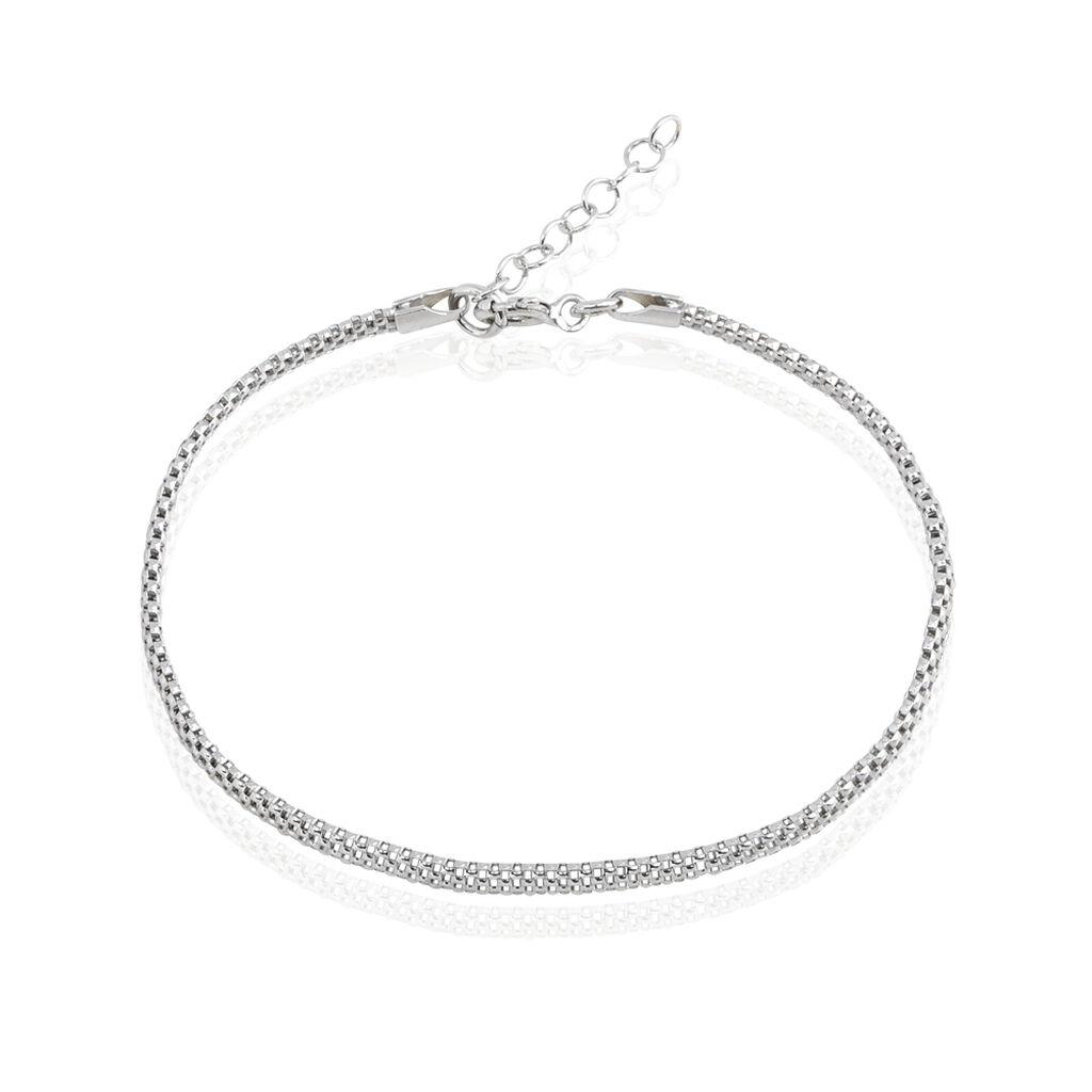 Bracelet Christine Maille Serpent Argent Blanc Oxyde De Zirconium - Bracelets fantaisie Femme | Histoire d'Or
