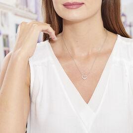 Collier Nermin Argent Blanc Oxyde De Zirconium - Colliers Coeur Femme | Histoire d'Or