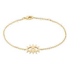 Bracelet Mosca Plaque Or Jaune - Bracelets fantaisie Femme   Histoire d'Or
