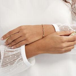 Bracelet Kaelig Plaque Or Jaune Oxyde De Zirconium - Bracelets fantaisie Femme   Histoire d'Or