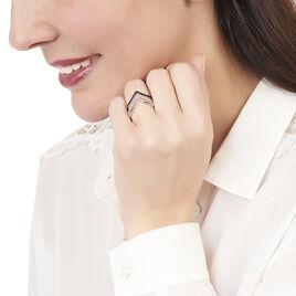 Bague Irina Argent Blanc Oxyde De Zirconium - Bagues avec pierre Femme | Histoire d'Or