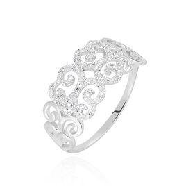 Bague Arabesque Or Blanc Diamant - Bagues avec pierre Femme | Histoire d'Or