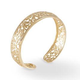 Bracelet Jonc Tyfene Plaque Or Jaune - Bijoux Femme   Histoire d'Or