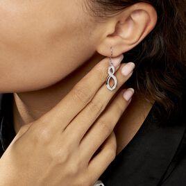 Boucles D'oreilles Pendantes Odile Argent Blanc Oxyde De Zirconium - Boucles d'Oreilles Infini Femme | Histoire d'Or