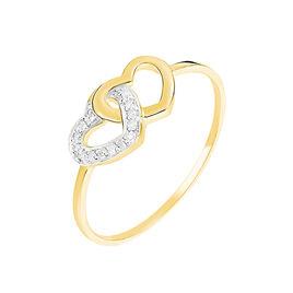 Bague Wydad Or Jaune Diamant - Bagues Coeur Femme   Histoire d'Or