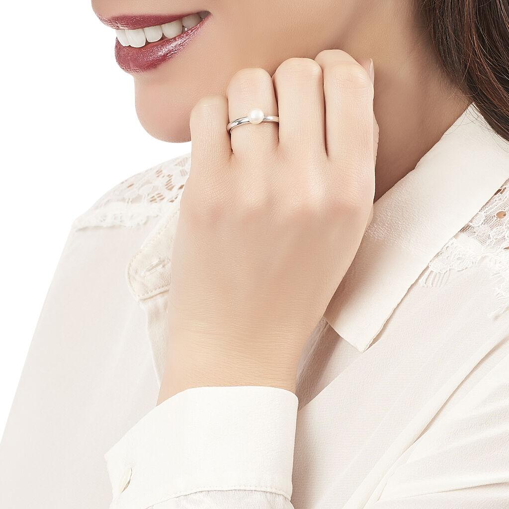 Bague Jose-marie Argent Blanc Perle De Culture - Bagues avec pierre Femme   Histoire d'Or