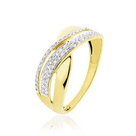 Bague Merlin Or Jaune Diamant - Bagues avec pierre Femme   Histoire d'Or