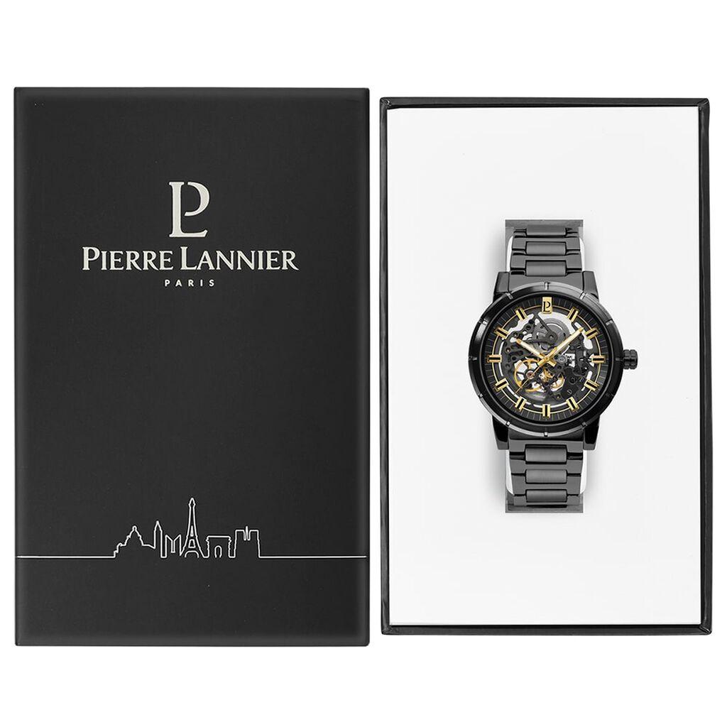 Montre Pierre Lannier Collection Automatic Noir - Bijoux Coeur Homme | Histoire d'Or