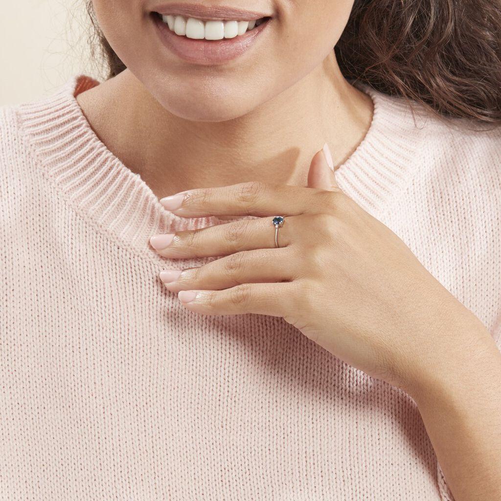 Bague Janah Or Blanc Topaze Et Oxyde De Zirconium - Bagues avec pierre Femme | Histoire d'Or